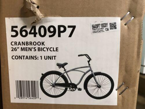 """Silver *SHIPS SAME DAY* Huffy 26/"""" Cranbrook Men/'s Beach Cruiser Comfort Bike"""