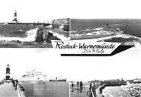 AK, Rostock Warnemünde, Die Mole, vier Abb., 1978