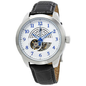 Brooklyn-Carlton-Skeleton-Mens-Automatic-Silver-Dial-Mens-Watch