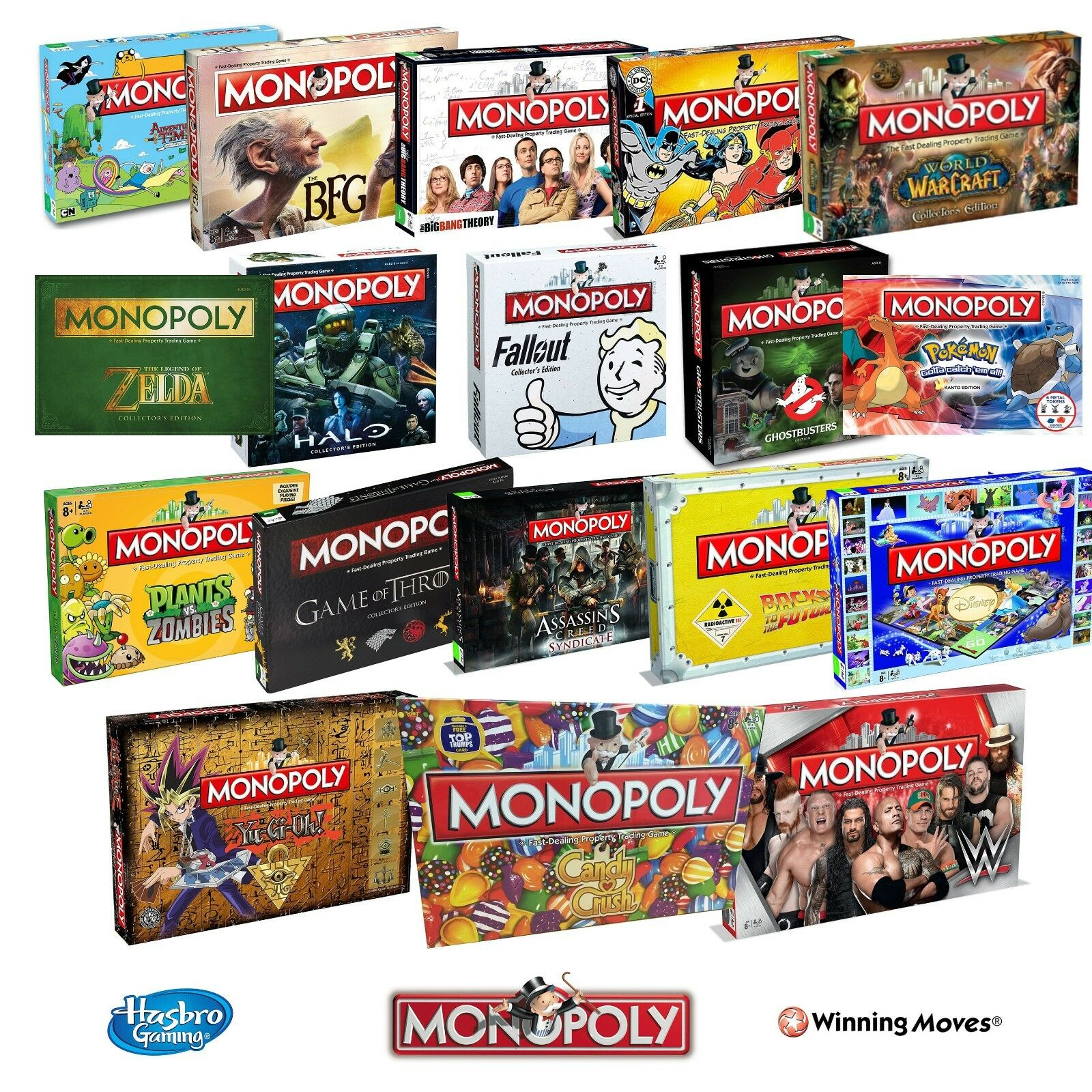 NEW  MONOPOLY COLLECTORS SPECIAL EDITION BOARD GAME 28 OPTIONS TO CHOOSE