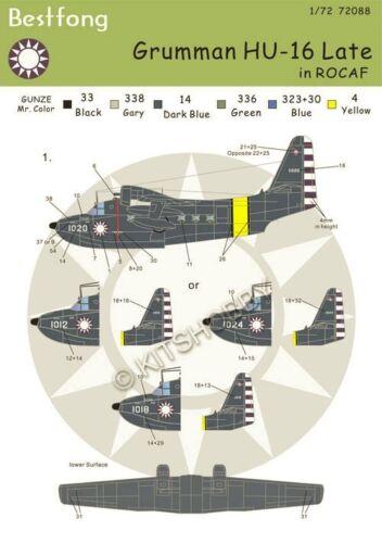"AF /""Late/"" Bestfong Decal 1//72 Grumman HU-16 Albatross R.O.C. Taiwan"