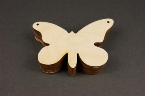 10 Wooden Butterfly Hanging Shapes Blank Embellishments Craft 9x6cm