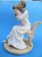 "Valencia by Roman Inc Porcelain Figurine ""AA Mother & Baby"" NIB Mint"