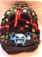 Hanna Andersson Navy Backpack Bag Multi-Colored Retro Video Game Space Invaders
