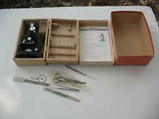 A Stellar Microscope B 192 3 Turrets 150x 300x 600x Original Boxes Slides Tools