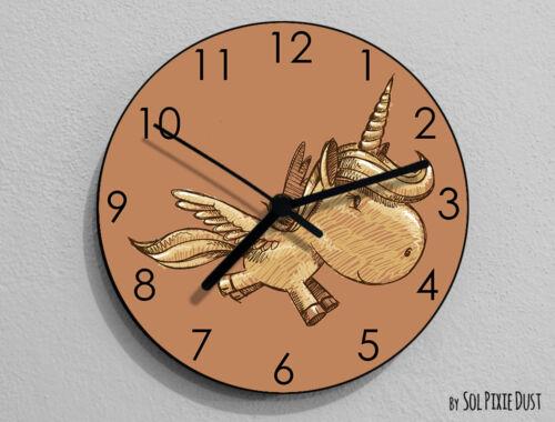 Teens Room-Horloge murale Unicorn Main Draw-Kids Nursery Room