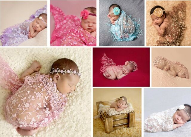 Neugeboren Baby Spitze Fotoshooting Fotografie Requisiten Wrap Photo R njk IKZ