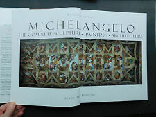 MICHELANGELO Complete Sculpture Painting Architecture Wallace 100s pics was $95