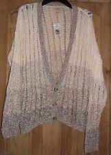 BNWT Papaya Soft Crochet Knit Ombre Oversized Cardigan Size 16 - 100% Cotton