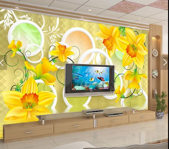 3D Orange Blumen 876 Tapete Tapeten Mauer Foto Familie Tapete Wandgemälde DE