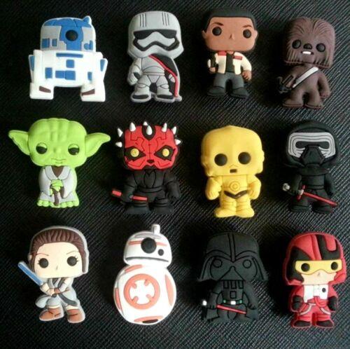 12 x Star Wars BB8 Charms PVC GOMMA Holey Zoccoli Scarpe Charm