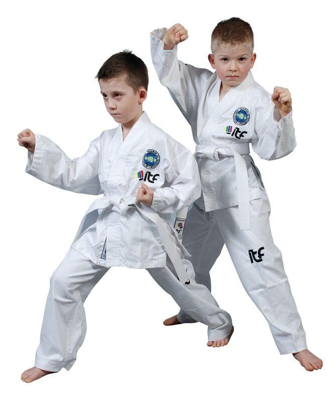 Top Ten Kids Student ITF Taekwondo Dobok TKD ITF SUIT Training Uniform White