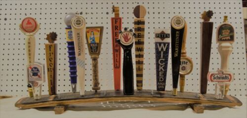 extra wide oak whiskey barrel stave 19 beer tap handle display stand