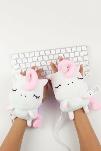 3a82f55fb9ab SMOKO Unicorn Wireless Hand Warmers Kawaii Cute Plush Angie Electronic