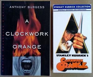 A-CLOCKWORK-ORANGE-MALCOLM-McDOWELL-VHS-TAPE-ANTHONY-BURGESS-PAPERBACK