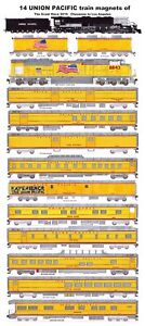 Union Pacific Big Boy #4014 Great Race Full Set 14 magnets Andy Fletcher