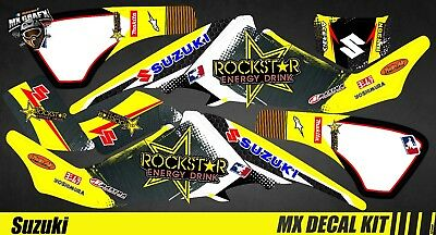 NEW ROCKSTAR Decal Sticker ATV Dirt Bike SUZUKI 9 DE32