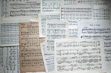 job lot of ephemera, c. 25 pieces, Subject MUSIC
