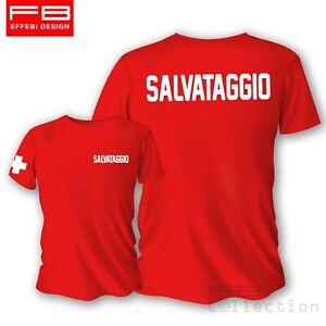 T-Shirt-Maglietta-SALVATAGGIO-LIFEGUARD-BAGNINO-spiaggia-piscina-estate-vacanze