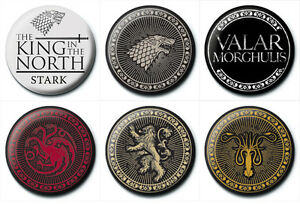 New-Game-of-Thrones-button-Pin-Badges-Stark-Lannister-Targaryen-Greyjoy-HBO-UK