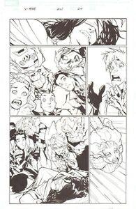 X-Men #201 P.20 - Viele Von Figuren - 2007 Unterzeichnet Kunst Humberto Ramos
