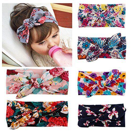 Baby Kids Girl Infant Flower Bow Hairband Turban Knot Rabbit Headband Headwear