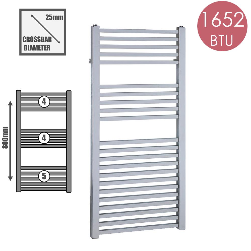Aura Cube sèche-serviettes Warmer, Chauffage Central, 1652 BTU 550x800, chrome