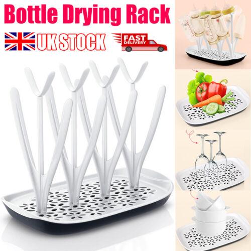 Bottle Drying Rack Infant Baby Countertop Dryer Clean Feeding Holder Drainer UK