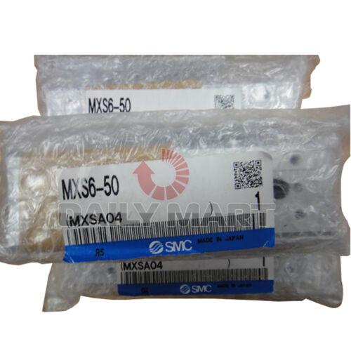 MXS650 Nueva Mesa de diapositivas de Cilindro SMC MXS6-50 guiada Doble Barra 6mm diámetro AI Aleación