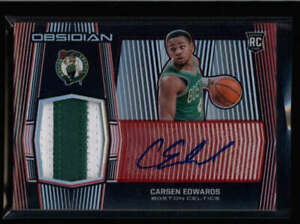 CARSEN EDWARDS 2019/20 PANINI OBSIDIAN ROOKIE RED PATCH AUTOGRAPH AUTO /5 FC2760