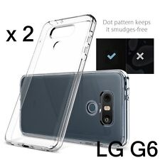 2 x Pieces - Transparent Clear TPU Rubber Silicone Phone Case Cover for LG G6