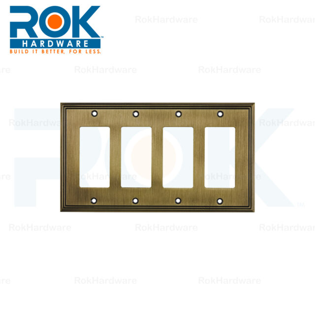 ROK Wall Light Switch Plate Rocker Toggle Cover Decorative Antique ...