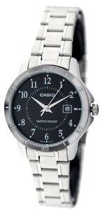 Casio-Women-039-s-Analog-Quartz-Stainless-Steel-Watch-LTPV004D-1B