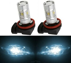 LED Kit G8 100W H9 5000K White Two Bulbs Head Light High Beam Replace Upgrade OE
