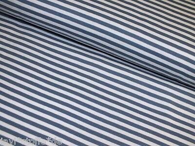 Ringelbündchen Bündchenware Costa Hilco weiß jeansblau 25 cm elastisch Meterware