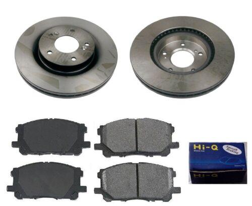 Front Ceramic Brake Pad Set /& Rotor Kit for 2005-2006 Mitsubishi Galant GTS-LS