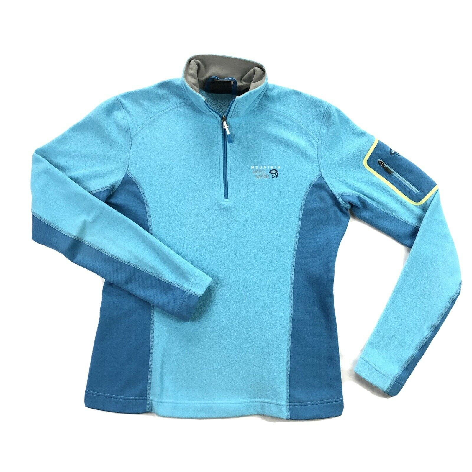 Mountain Hardwear Micro Stretch Fleece Tee Womens Small Blue 1/4 Zip MSRP