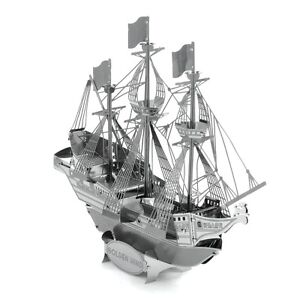 Fascinations-Metal-Earth-Golden-Hind-Ship-3D-Laser-Cut-Steel-Puzzle-Model-Kit