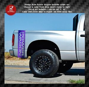 Power Wagon Stickers >> Dodge Ram 1500 2500 Truck Bed Side Decals Graphics Decals Power