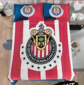 FCB BARCELONA ORIGINAL LICENSED BLANKET WITH SHERPA VERY SOFTY 3 PCS QUEEN