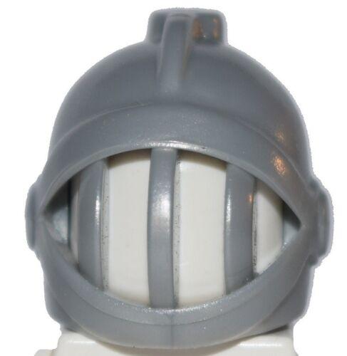☀️NEW Lego Minifig Hat Pearl Light Gray Grille Battle Castle Knight Helmet