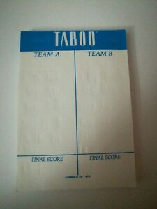 VGC Taboo Card Deck Only 1989 Board Game Parts Pieces Replacement