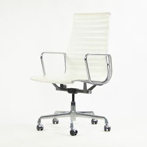 Astonishing Details About 2007 Eames Herman Miller Leather High Executive Aluminum Group Desk Chair White Ncnpc Chair Design For Home Ncnpcorg
