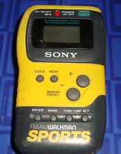 Sony Sport Walkman SRF-M70  FM/AM  Stereo Radio Clip On 10 Digital Presets