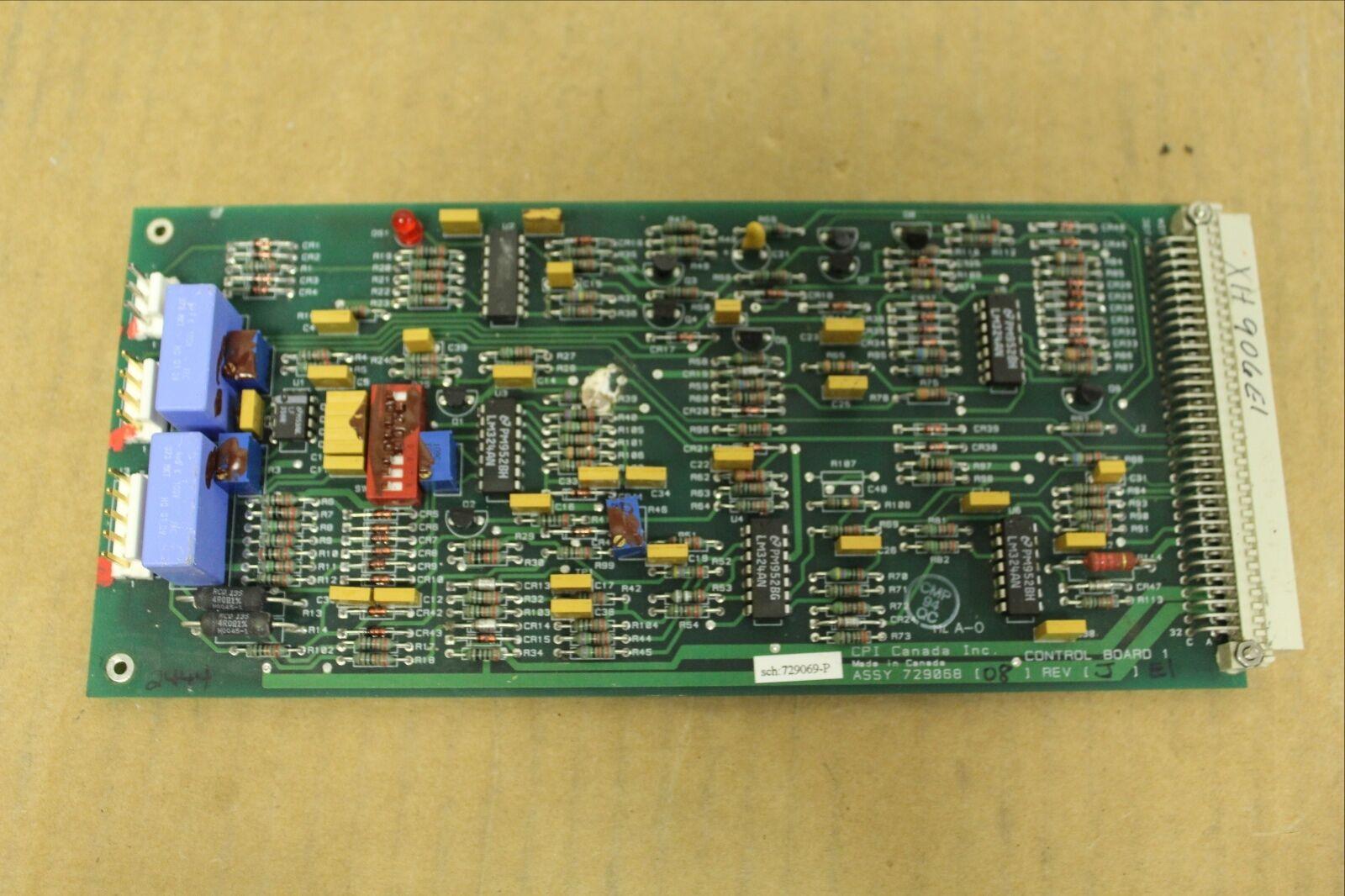 CPI CONTROL CIRCUIT BOARD CARD 729068-08 72906808 REV J