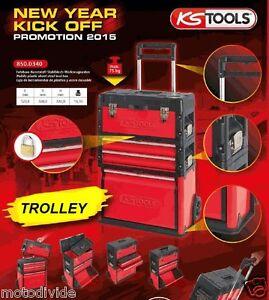 ks tools werkstattwagen fahrbarer werkzeugkasten 3tlg. Black Bedroom Furniture Sets. Home Design Ideas