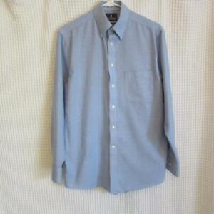 Stafford-Blue-Wrinkle-Free-Oxford-Reg-Fit-Dress-Shirt-sz-15-32-33