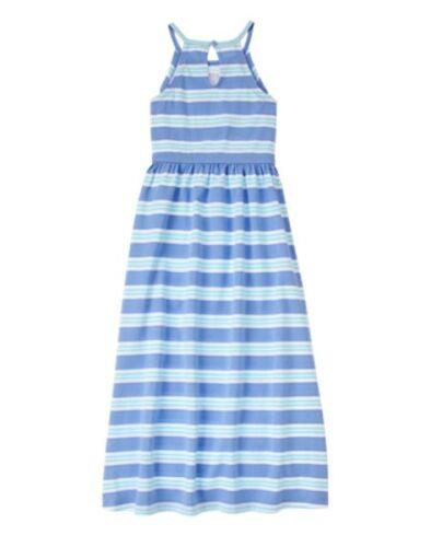 NWT Gymboree Sugar Reef Striped Maxi dress Girls SZ 4,5,6,7