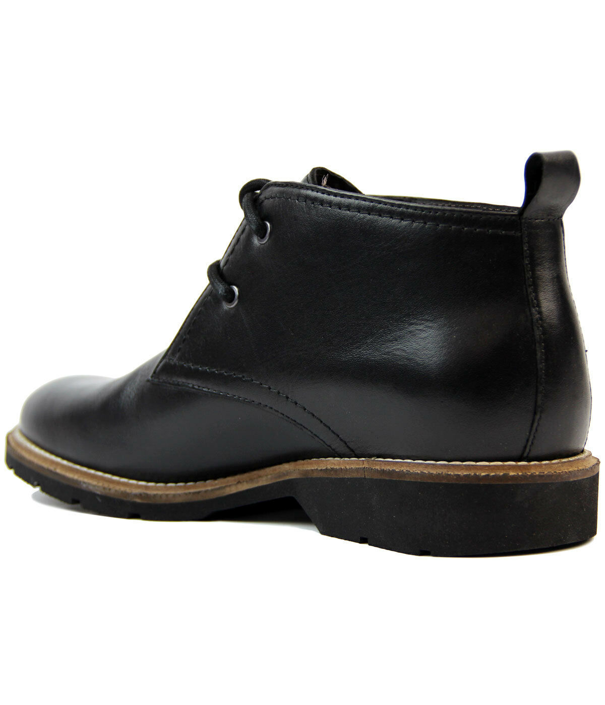 NEW  Herren RETRO LEATHER CHUKKA MEMORY Stiefel BLACK FLEXI SOLE MEMORY CHUKKA FOAM SOCK M9521A 16C d5f92d