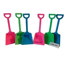 """24 Toy Plastic Shovels &""""I Dig You"""" Stickers Mfg USA Lead Free Mix of 3 Colors*"""